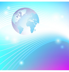 Planet glowing background vector image
