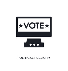 Political publicity on monitor screen isolated vector
