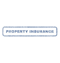 Property insurance textile stamp vector