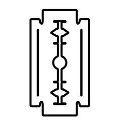 razor blade icon outline style vector image