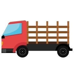 Red Cargo truck colorful icon vector
