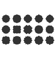 royal retro blank vignette text frame tag set vector image