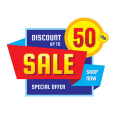 sale - discount up to 50 concept banner sp vector image