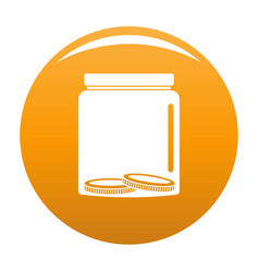 save money icon orange vector image