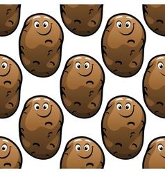Seamless pattern of cartoon potatoes vector image