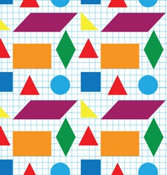 Seamless pattern of geometric shapes vector