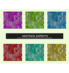 seamless pattern seems like tiles on the roof vector image