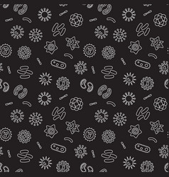 seamless pattern with outline bacteria vector image