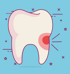 Sensitivity dental care icon vector