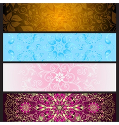Set colorful gradient banners vector image