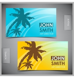 Set of creative tourism business cards vector image