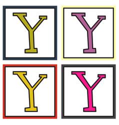 Set of yahoo icon social company logo search vector