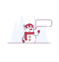 snowman and call-out vector image
