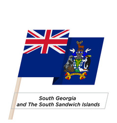South georgia and south sandwich islands ribbon vector