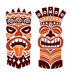 Tiki statue pole totem design - hawaii vector