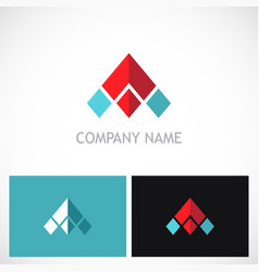 triangle arrow pyramid company logo vector image