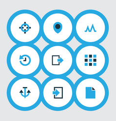 User icons colored set with history activity vector