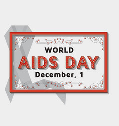 world aids day background template with retro vector image