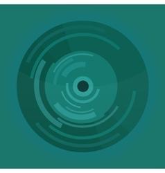 Abstract material design circle button or vinyl vector image
