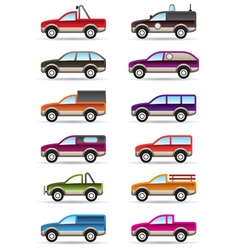 Different off road and SUV cars vector image vector image