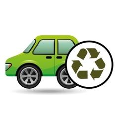 eco car icon environment recycle symbol vector image