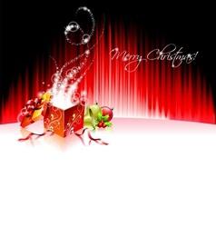 holiday on a christmas theme with mag vector image