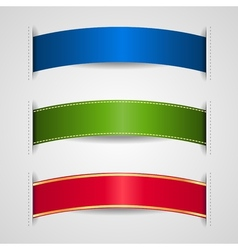 ribbons element vector image vector image