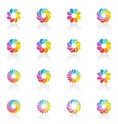 spectral fantasies logo template set vector image vector image