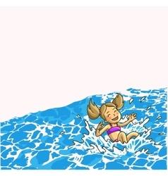 Summer fun in aqua park vector