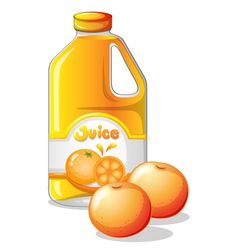 A gallon of orange juice vector image