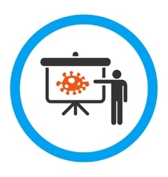Bacteria lecture rounded icon vector