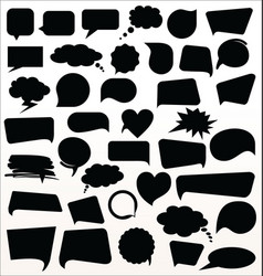black speech bubbles collection vector image vector image