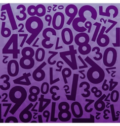 numeral background vector image