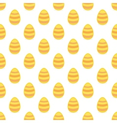 Tile pattern with easter eggs on white background vector image