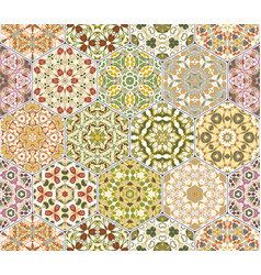 bright seamless pattern tiles vector image vector image