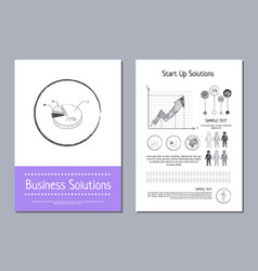 business solution and start up vector image vector image