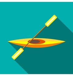 Canoe icon in flat style vector image
