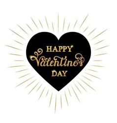Happy Valentine s day inscription vector image