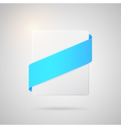paper badge with blue silk ribbon vector image