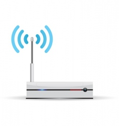 router wireless vector image