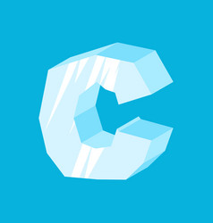 letter c ice font icicles alphabet freeze vector image vector image