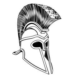 monochrome corinthian helmet vector image