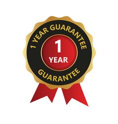 1 year guarantee logo guaranteed badges one year vector