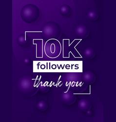 10k followers banner for social networks vector