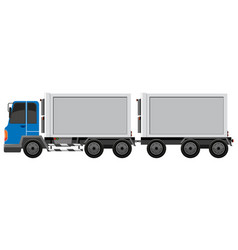 a truck container vehicle vector image