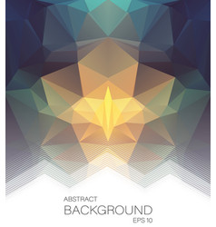 abstract background with mosaic shapes vector image
