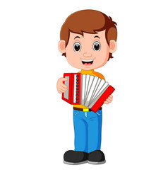 Accordion piano player vector