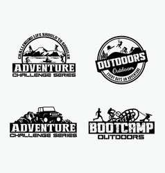 adventure logo badges 2 vector image