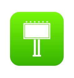 advertising billboard icon digital green vector image