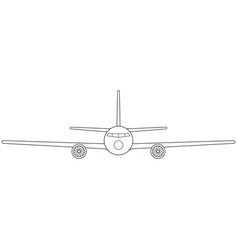 aeroplane front view vector image